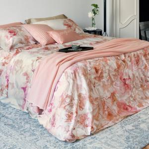 LA PERLA set lenzuola matrimoniale ADORABLE Raso di puro cotone floreale rosa