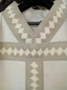 Casula solenne  taglio gotico in pura