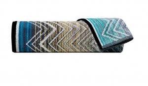 Set Asciugamani Missoni 1 asciugamano + 1 ospite TOLOMEO  170 blu e beige