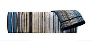 Set Asciugamani Missoni 1 asciugamano + 1 ospite TABATA 170 blu e beige