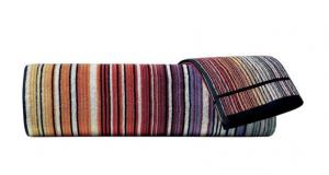 Set Asciugamani Missoni 1 asciugamano + 1 ospite TABATA 159 marrone arancione