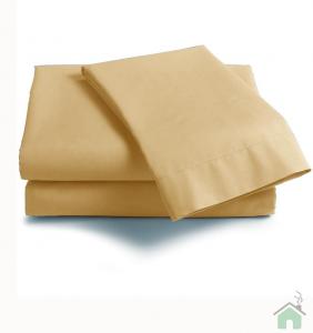 Lenzuola Matrimoniale puro cotone sotto con angoli ISTAR Maxi materassi grande - crema