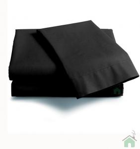 Lenzuola Matrimoniale puro cotone sotto con angoli ISTAR Maxi materassi grande - nero