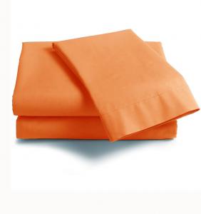 Lenzuola Matrimoniale puro cotone sotto con angoliISTAR Maxi materassi grande - zucca