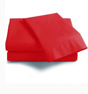Lenzuola Matrimoniale cotone angoli ISTAR materassi Maxi rosso