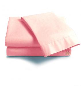 Coppia di federe sfuse in puro cotone tinta unita ISTAR - rosa