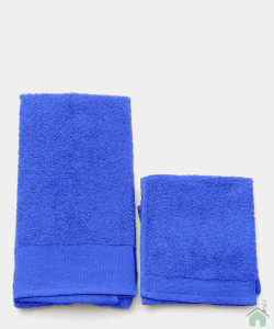 Asciugamani Happidea set 1+1 viso e mani, bagno piscina arredo royal
