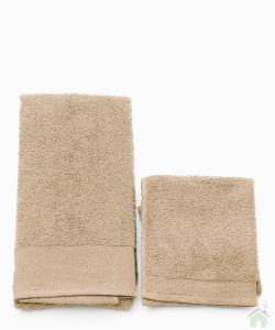 Asciugamano con ospite da bagno Happidea 460 gr Canapa