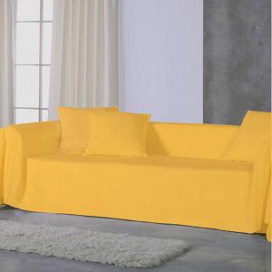 Copridivano copritutto telo Panama 350x280 cm - giallo