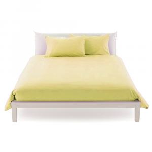 Copripiumino misura maxi 270 x 270 in vari colori copritrapunta puro cotone ISTAR - crema
