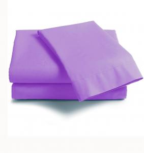 Lenzuola Matrimoniale puro cotone sotto con angoli ISTAR Maxi materassi viola