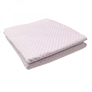 Lenzuola Matrimoniale angoli ISTAR Maxi materassi misura grande - pois rosa