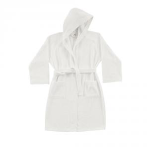 Accappatoio con cappuccio in Spugna di puro cotone Bassetti  TIME, vari colori, UNISEX-Bianco-XL