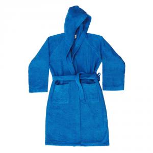 Accappatoio con cappuccio in Spugna di puro cotone Bassetti  TIME, vari colori, UNISEX - Bluette-S