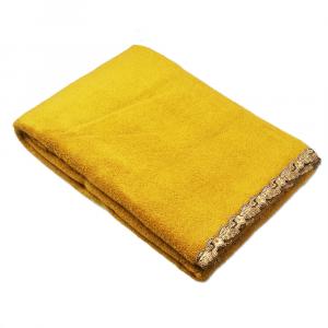 Telo da bagno La Perla con pizzo ricamato Petit maison microspugna - oro