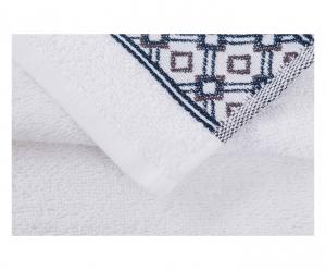 Trussardi set 1+1 asciugamano e ospite in spugna DANDY SOLID bianco