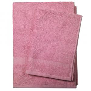 Set asciugamano e ospite SERENITY in spugna COGAL - rosa antico 055