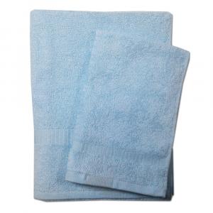 Set asciugamano e ospite SERENITY in spugna COGAL - celeste 006