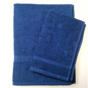 Set asciugamano e ospite SERENITY in spugna COGAL - blu N36