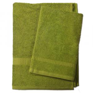 Set asciugamano e ospite SERENITY in spugna COGAL - verde 033