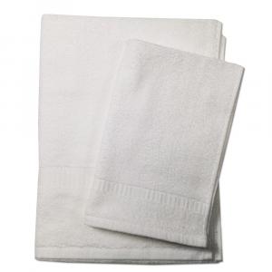 Set asciugamano e ospite SERENITY in spugna COGAL - bianco 090