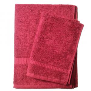 Set asciugamano e ospite SERENITY in spugna COGAL - bordeaux 085