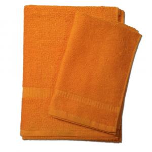 Set asciugamano e ospite SERENITY in spugna COGAL - arancio 050