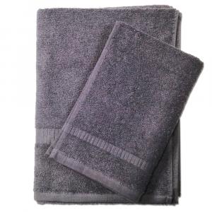 Set asciugamano e ospite SERENITY in spugna COGAL - antracite 071