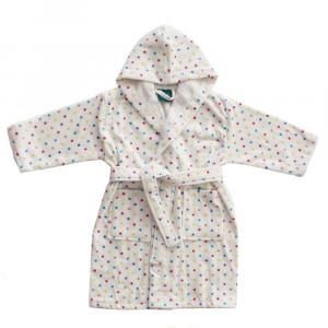 Accappatoio per bambino in spugna con cappuccio PRETTI pois - XS - 1-2 anni