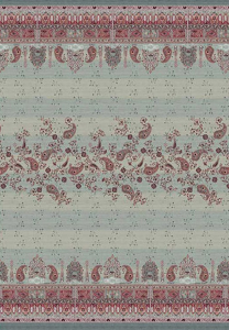 Bassetti Granfoulard telo arredo CORREGGIO var.7 grigio  puro cotone - 180x270 cm