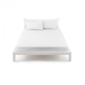 Bassetti Pop Color Lenzuolo piano di sopra letto singolo 160x290 cm - bianco 1000