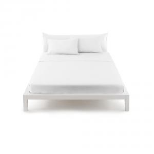Bassetti Pop Color Lenzuolo piano di sopra letto matrimoniale 240x290 cm - bianco 1000