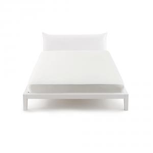 Bassetti Pop Color Lenzuolo con angoli per letto matrimoniale 175x200 cm - bianco 1000