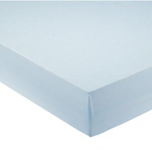 Lenzuola con angoli per letto francese 140x200 cm - celeste