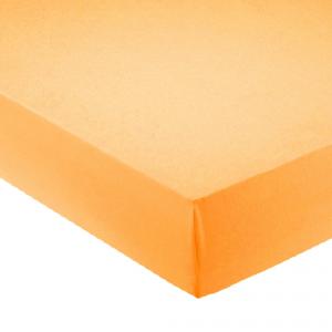 Lenzuola con angoli per letto francese 140x200 cm - arancione