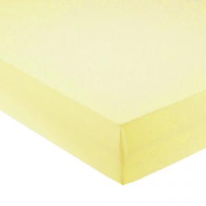 Lenzuola con angoli per letto francese 140x200 cm - giallo