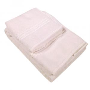 LA PERLA set 1+1 asciugamano e ospite NOVEL 100% spugna - bianco