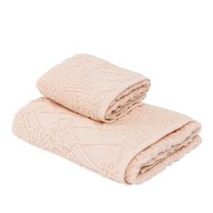 LA PERLA set 1+1 asciugamano e ospite VERMEER 100% spugna - rosa