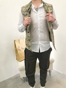 Camicia uomo con collo coreana in puro cotone elasticizzato |TG S, M, L, XL, XXL