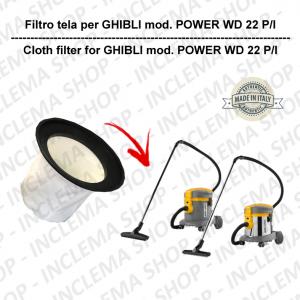 FILTRO TELA PER aspirapolvere GHIBLI modello POWER WD 22 P/I