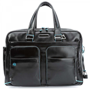 Briefcase  Piquadro Blue square CA2765B2 NERO