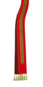 Stola SBR705 M2 Rossa Bordo Ricamato Rombi