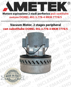 Motore aspirazione AMETEK che può sostituire motore DOMEL 492.3.778-4 MKM 7778/5