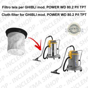 POWER WD 80.2 P/I TPT FILTRO TELA PER aspirapolvere GHIBLI