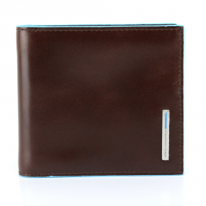 Man Wallet Piquadro BLUE SQUARE PU1666B2 MOGANO
