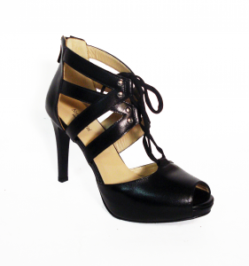 Sandalo nero intrecciato Nero Giardini