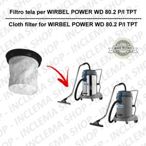 POWER WD 80.2 P/I TPT FILTRO TELA PER aspirapolvere WIRBEL