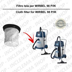 98 P/IK FILTRO TELA PER aspirapolvere WIRBEL