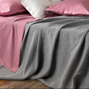 Copriletto leggero misto lino matrimoniale SOMMA Origami living - vari colori