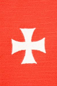 Stola S74 M4 Rossa in seta Jacquard